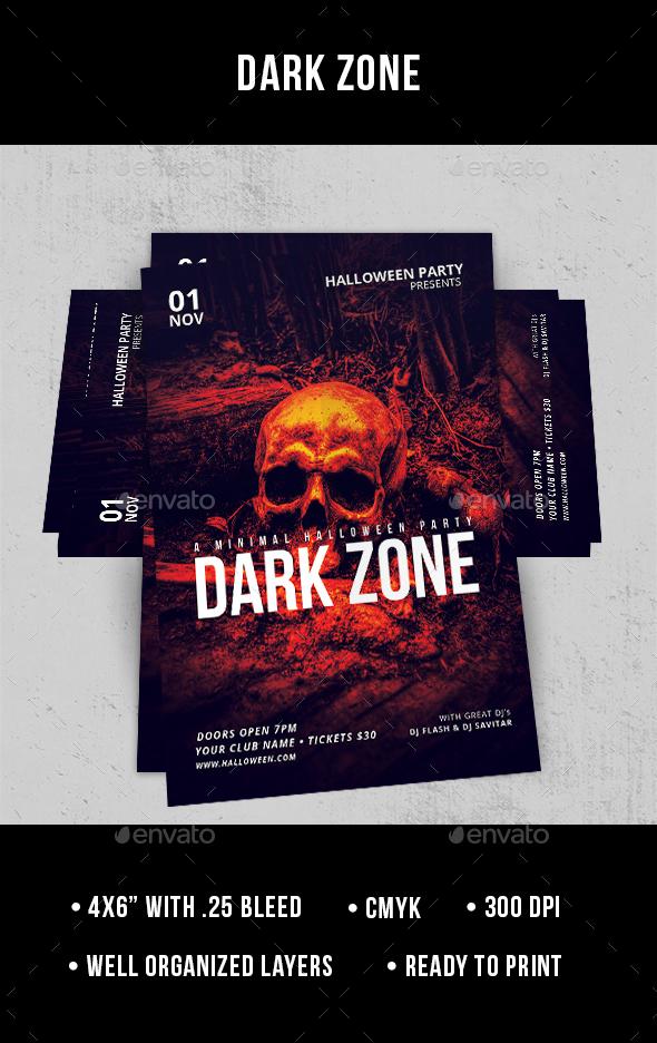 Dark Zone - Flyer - Clubs & Parties Events