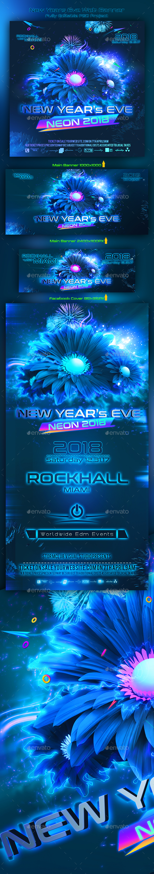 New Years Eve Web Banner - Miscellaneous Social Media