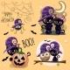 Set of Halloween Illustrations