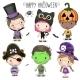 Set with Halloween Kids