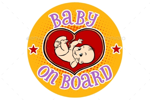 Baby on Board Embryo in the Womb - People Characters