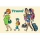 Caucasian Family Travelers - GraphicRiver Item for Sale