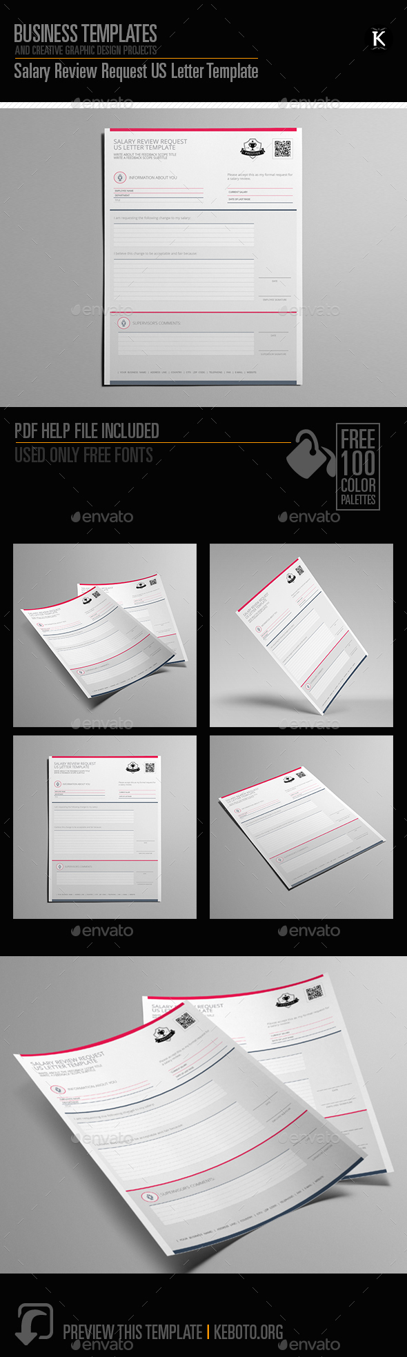 GraphicRiver Salary Review Request US Letter Template 20644690