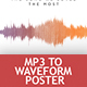 Waveform Artist - MP3 to Waveform Poster