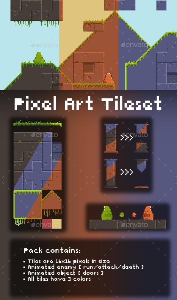 2D Pixel Art Tileset - Tilesets Game Assets