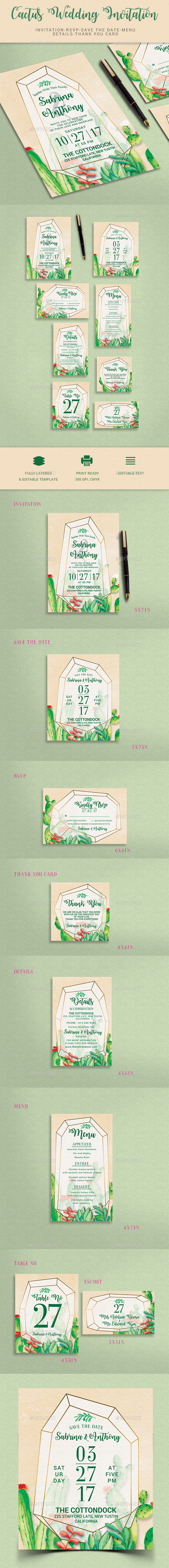 GraphicRiver Wedding Invitation 20644876