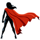 Super Heroine Back Isolated - VideoHive Item for Sale