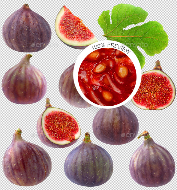 GraphicRiver Collection of Isolated Fig Fruits 20644912