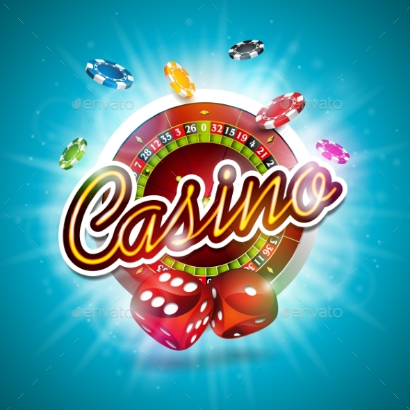 GraphicRiver Illustration on a Casino Theme with Color 20644961
