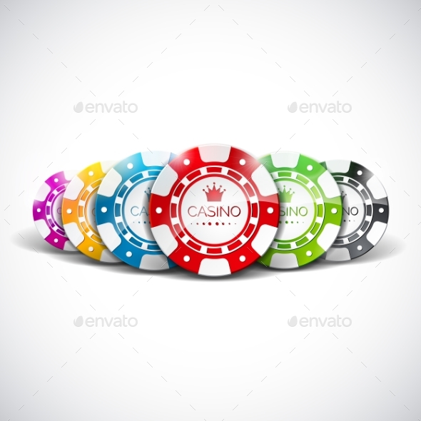 Vector Illustration on a Casino Theme with Color - Miscellaneous Vectors