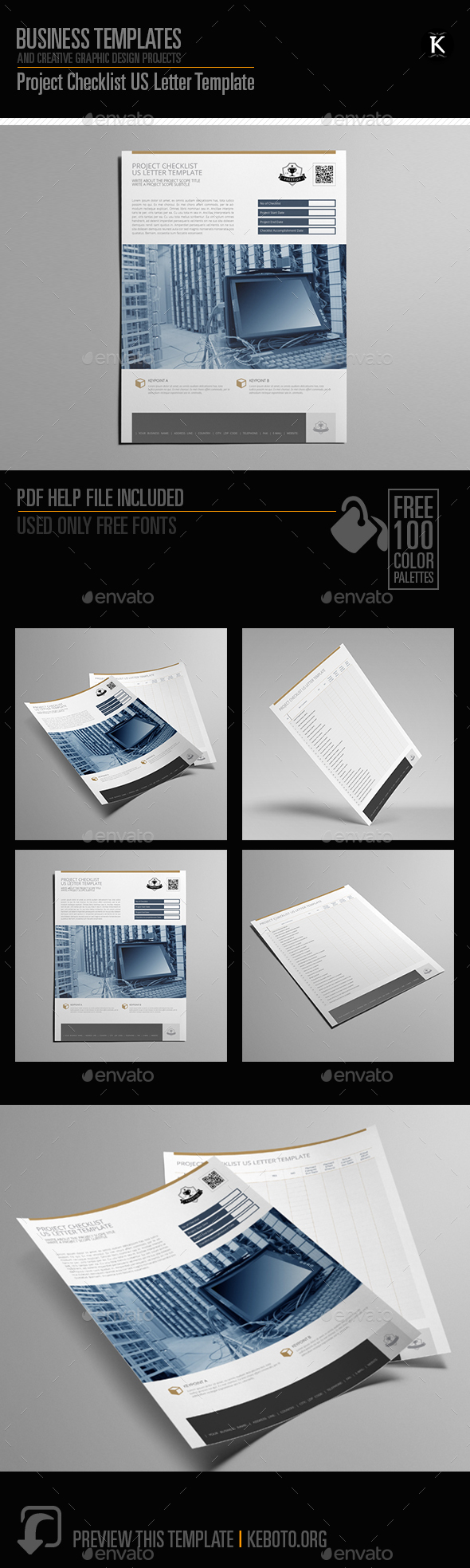 GraphicRiver Project Checklist US Letter Template 20644967