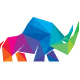 Rhino Colorful Polygon Logo - GraphicRiver Item for Sale
