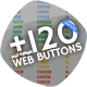 120+ Flat Design Web Buttons