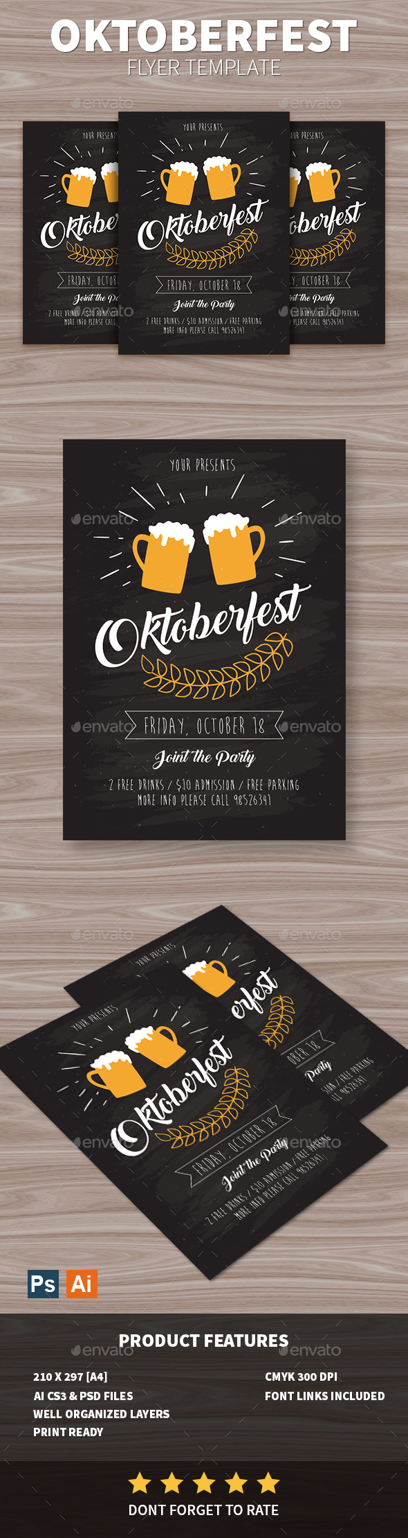 GraphicRiver Oktoberfest Flyer 20645318
