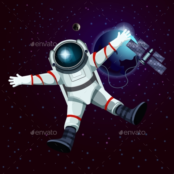 GraphicRiver Spaceman or Cosmonaut Astronaut in Space 20645498