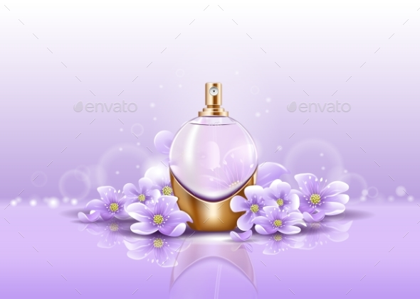GraphicRiver Sprayer or Perfume Glassware Bottle for Aroma 20645502