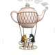 Hedgehog and Raccoon Having a Wonderful Trip on a Teapot Balloon