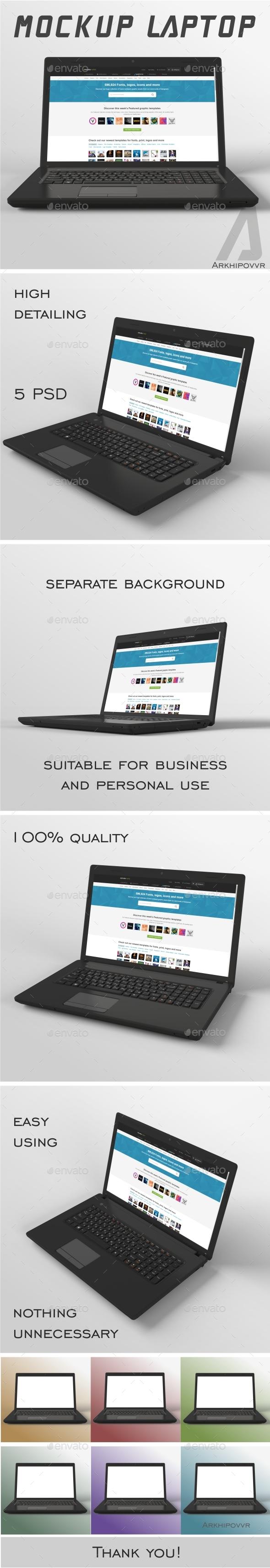 Screen Mockups - Product Mock-Ups Graphics