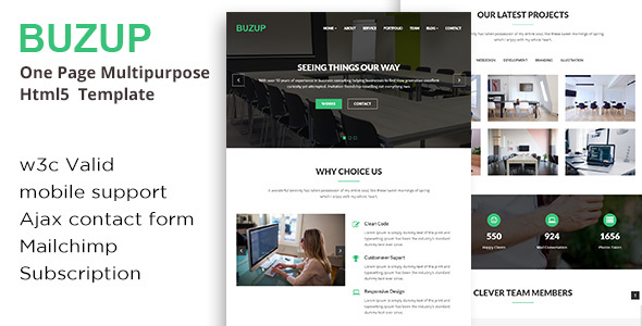 Buzup - Corporate & Business HTML Template