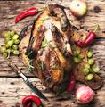 Appetizing roasted duck