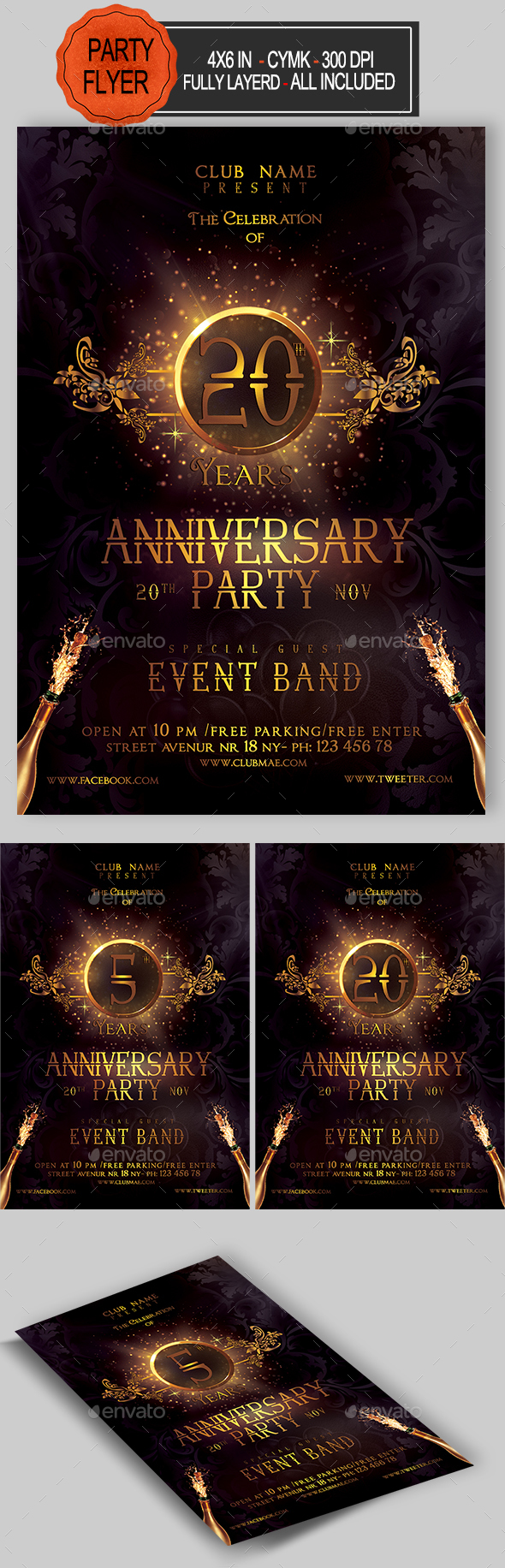 GraphicRiver Anniversary Flyer 20645611