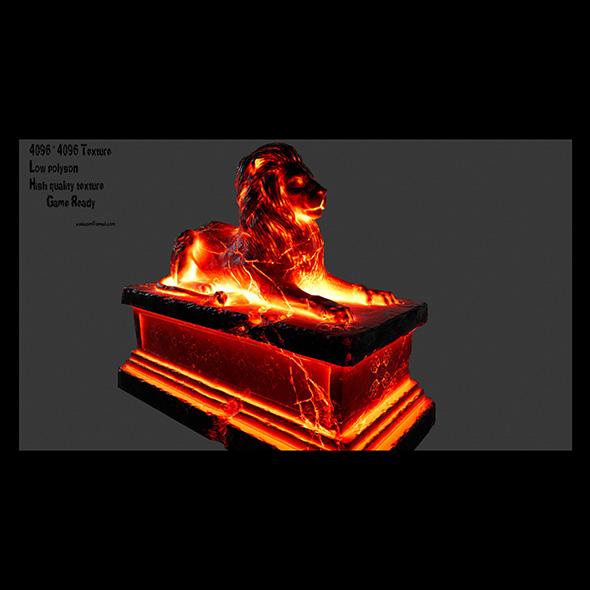 Lion Statue 5 - 3DOcean Item for Sale