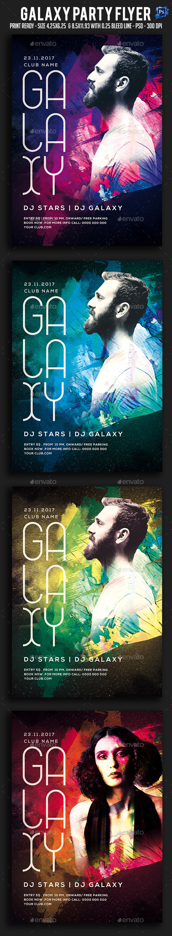 Galaxy Party Flyer - Clubs & Parties Events