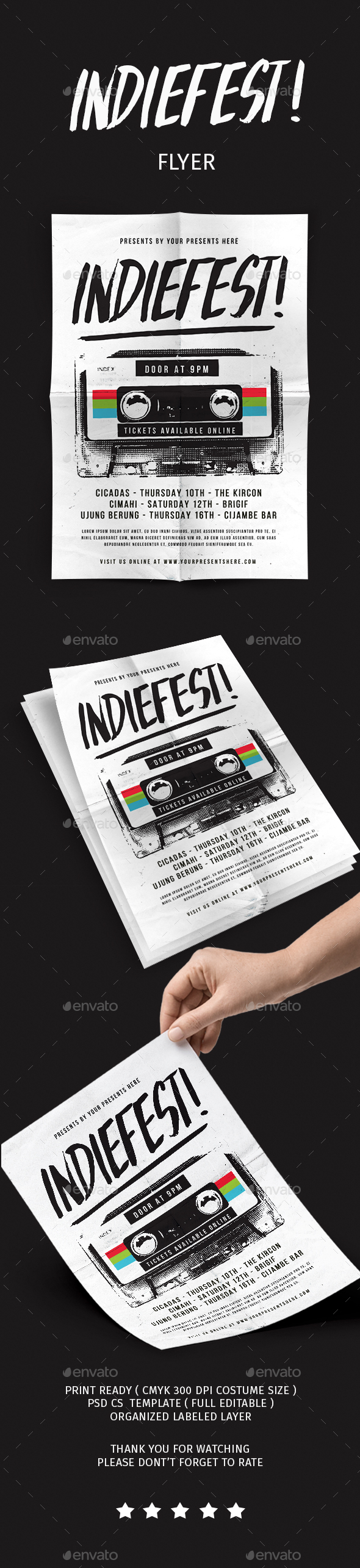 GraphicRiver Indiefest Flyer 20645657