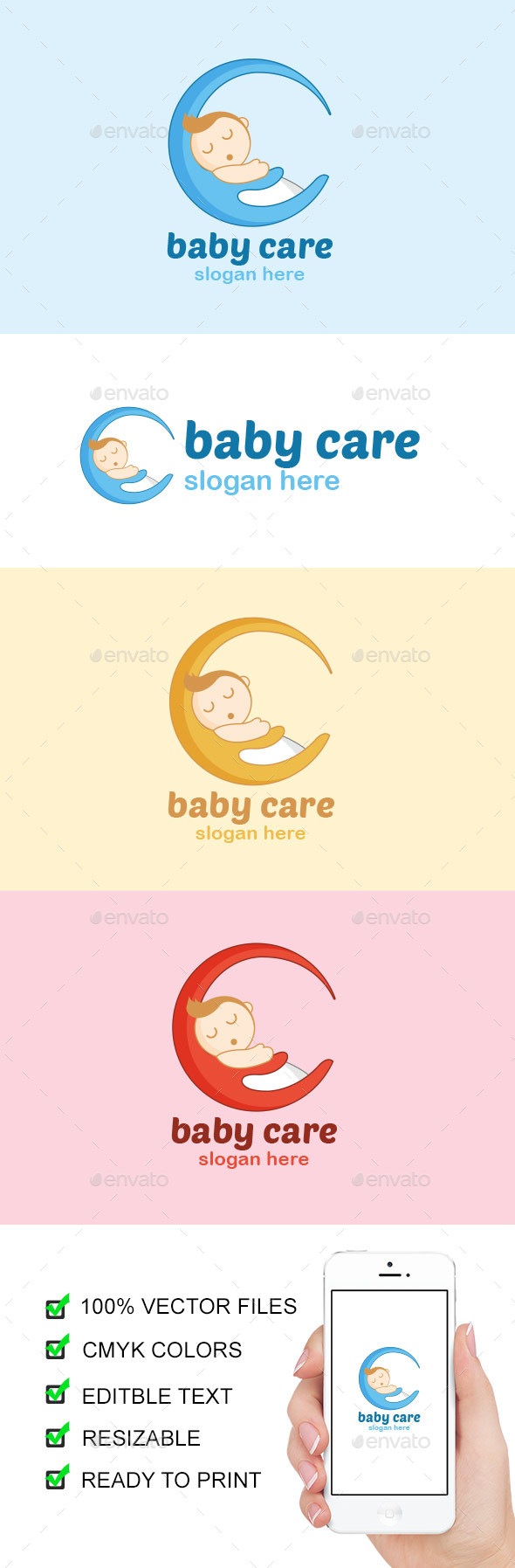 Baby Care Logo - Abstract Logo Templates