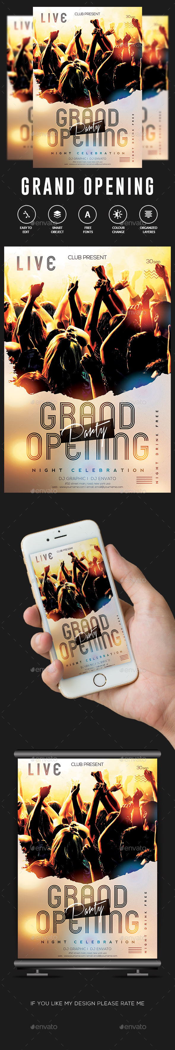 GraphicRiver Grand Opening Flyer 20645754