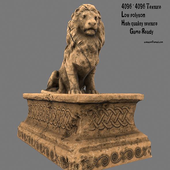 Lion Statue 6 - 3DOcean Item for Sale