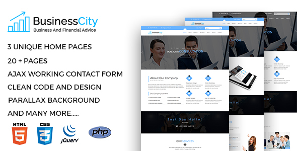 Business City - Business Consulting and Professional Services HTML5 Template - Business Corporate