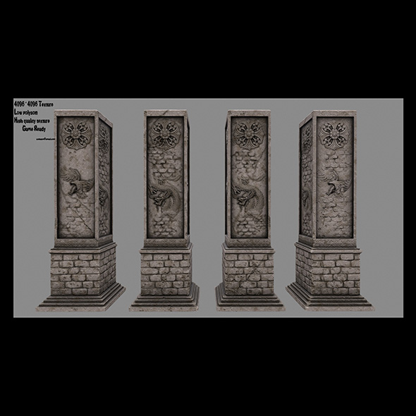 pillar 10 - 3DOcean Item for Sale