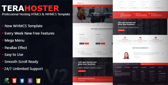 TeraHoster - Professional Hosting WHMCS & HTML5 Template