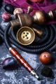 arabian hookah on plums
