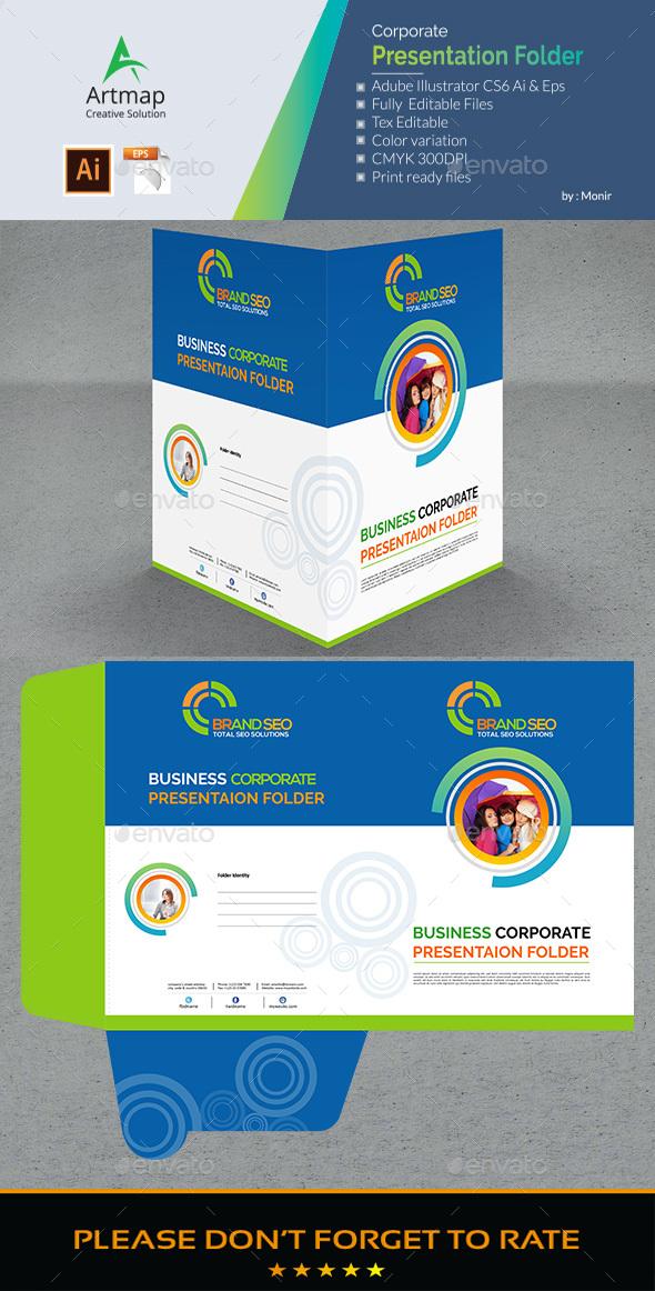 Creative Presentation Folder - Stationery Print Templates