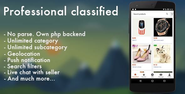 Professional classified with chat Android - CodeCanyon Item for Sale