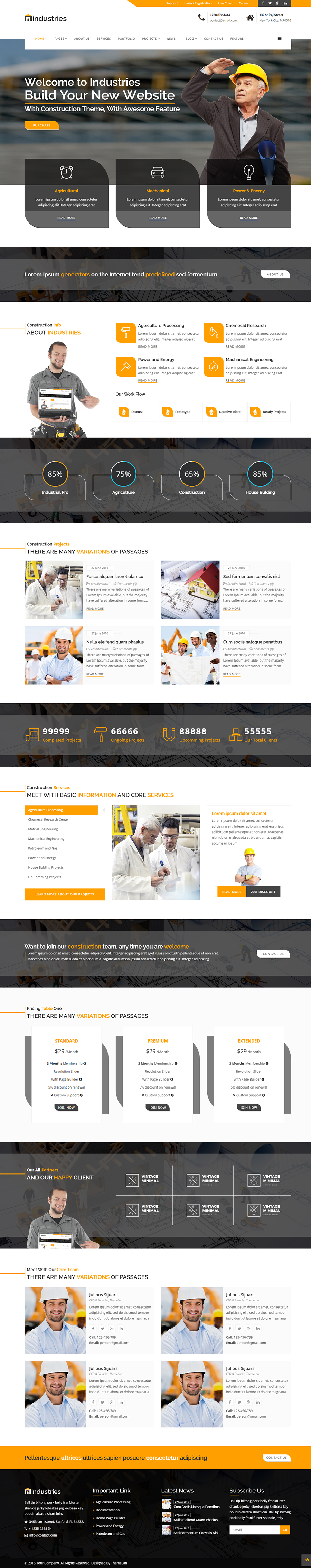 Industries - Industrial & Construction Business HTML Template by ...
