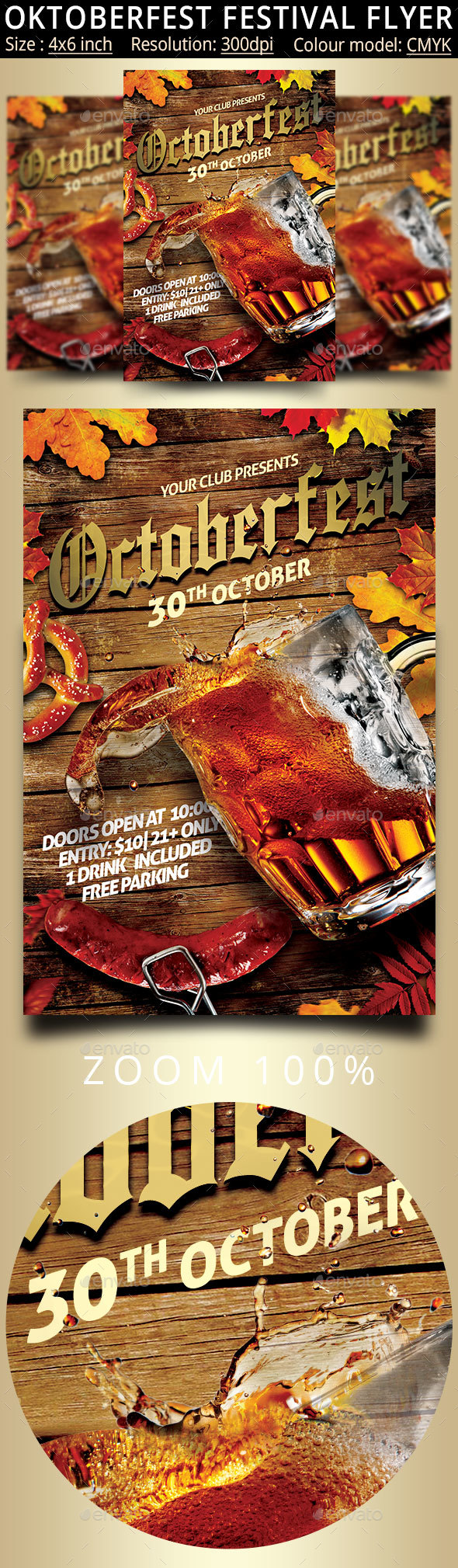 Oktoberfest Festival Party Flyer - Events Flyers
