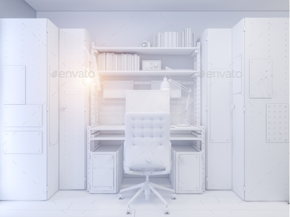 GraphicRiver 3D Illustration Childrens Room Interior Design 20646881