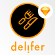 Delifer - IOS11 UI Food Delivery App Sketch Templates