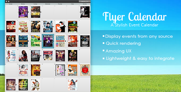 Flyer Calendar - CodeCanyon Item for Sale