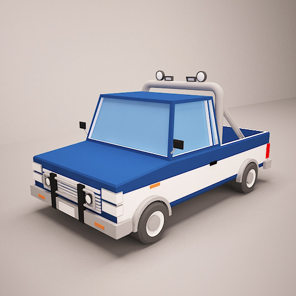 3DOcean Low poly car 20647174