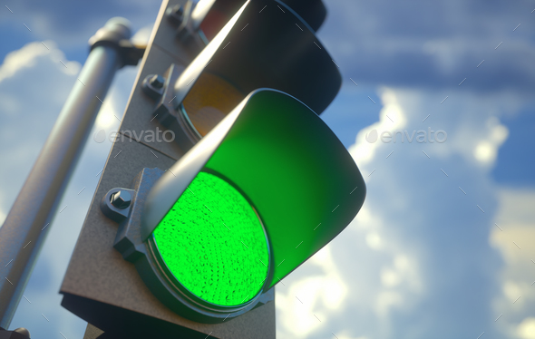 Traffic Light Green - Stock Photo - Images