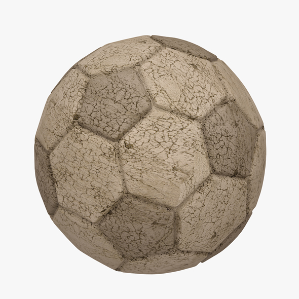 3DOcean Football Soccer Ball Dirty 20647326