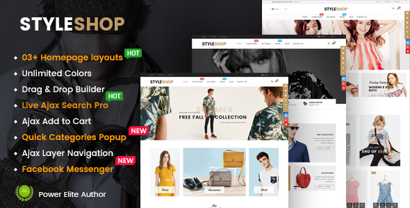 Image of StyleShop - Responsive Multipurpose Sections Drag & Drop Builder Shopify Theme