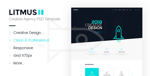 Litmus - Creative Agency PSD Template