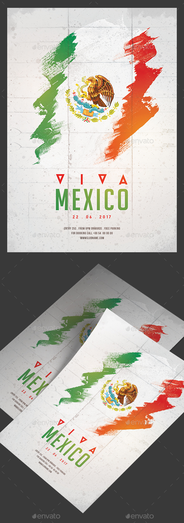 Viva Mexico Party Flyer - Clubs & Parties Events