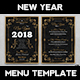New Year Menu Template V1 - GraphicRiver Item for Sale