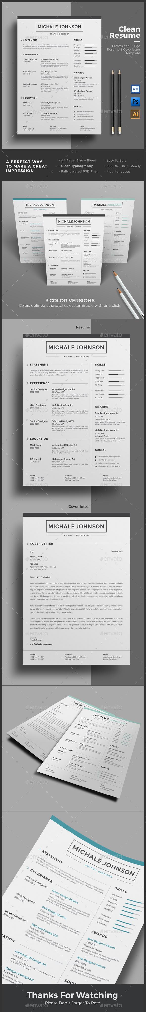 GraphicRiver Resume 20647640